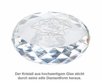 Kristall mit Initialen Gravur - Herzdiamant - 2