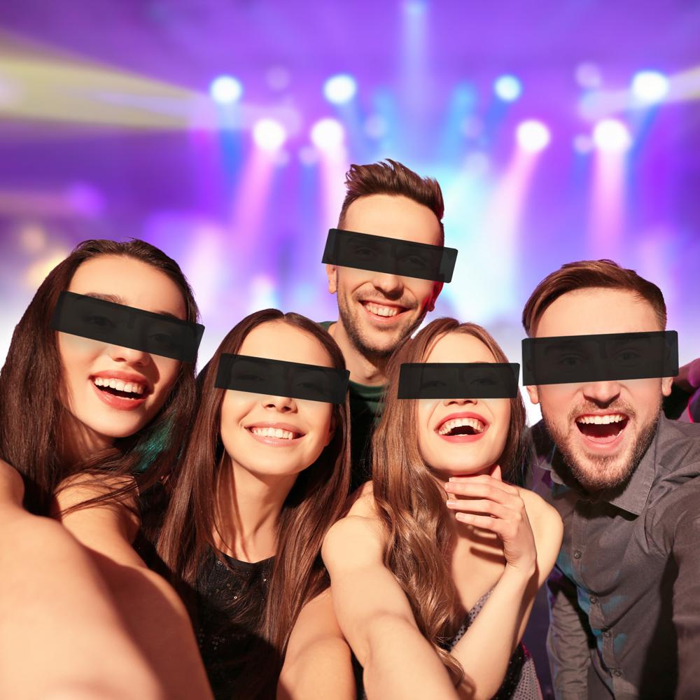 Zensurbrille - Schwarzer Balken Partybrille - 2