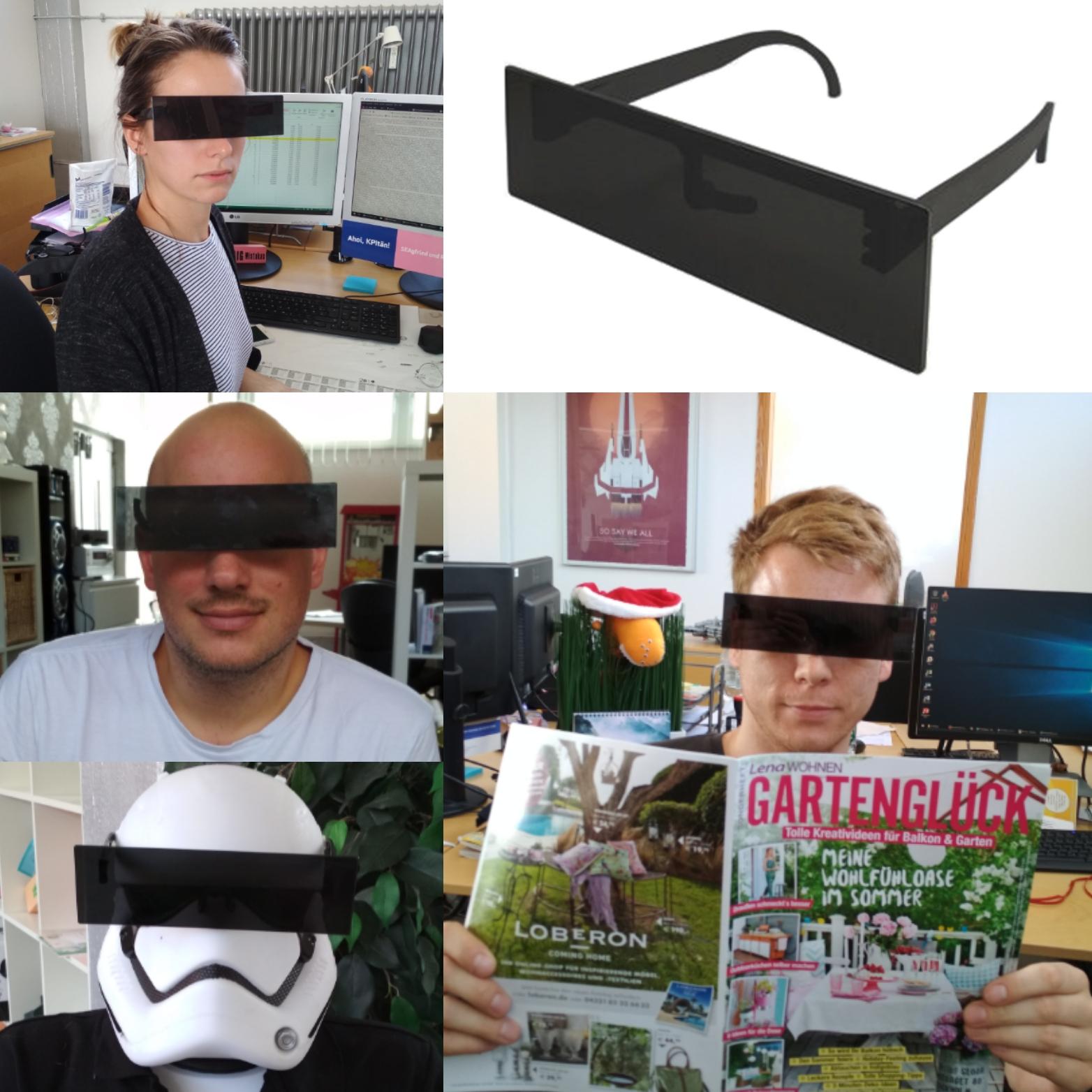 Zensurbrille - Schwarzer Balken Partybrille - 3