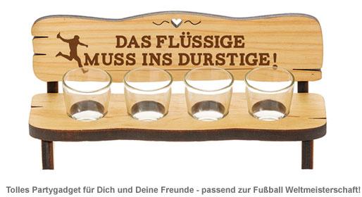 Vierer Schnapsbank - Das Flüssige muss ins Durstige - 2