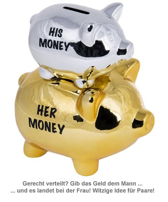 Sparschwein für Paare - His Money / Her Money - 2