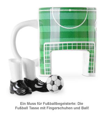 Fußball Tasse mit Fingerschuhen und Ball - 2