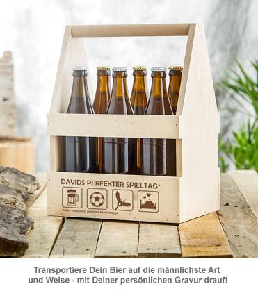 Flaschenträger mit Gravur - Perfekter Spieltag - 3