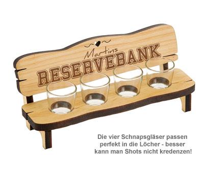 Personalisierte Vierer Schnapsbank - Reservebank - 3