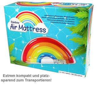 Aufblasbare Luftmatratze - Regenbogen - 3
