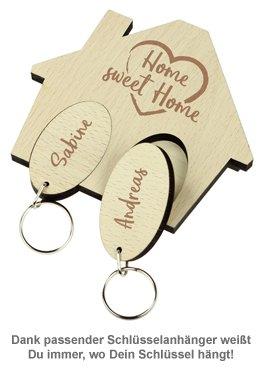 Schlüsselbrett mit Gravur - Sweet Home - 4