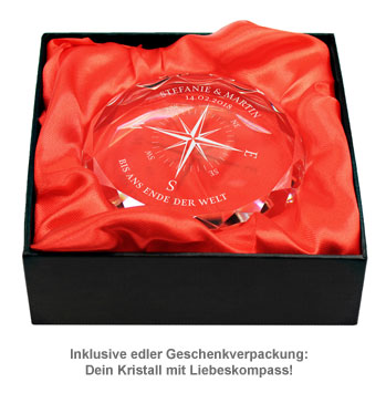Kristall mit Gravur - Liebeskompass - 3