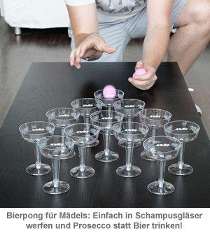 Prosecco Pong - Trinkspiel - 2