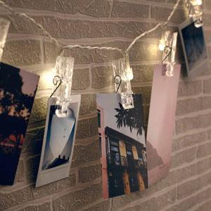 LED Lichterkette mit Wäscheklammern für Fotos - 3