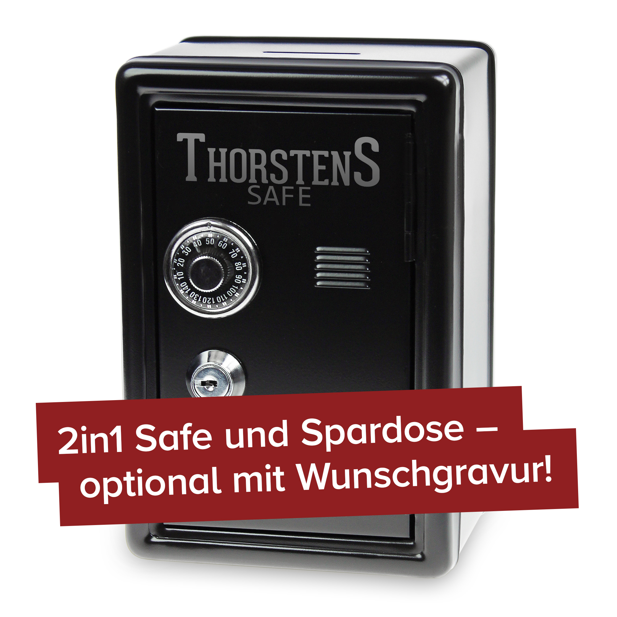 Spardose Tresor - schwarz - 3