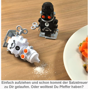 Salz & Pfeffer Aufzieh-Roboter - 2