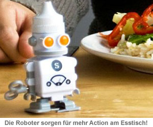 Salz & Pfeffer Aufzieh-Roboter - 3