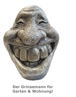 Deko Steinfigur - Smiley - 3