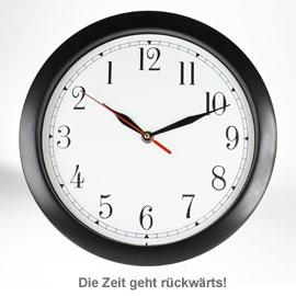 Design Wanduhr - Rückwärtsuhr - 2