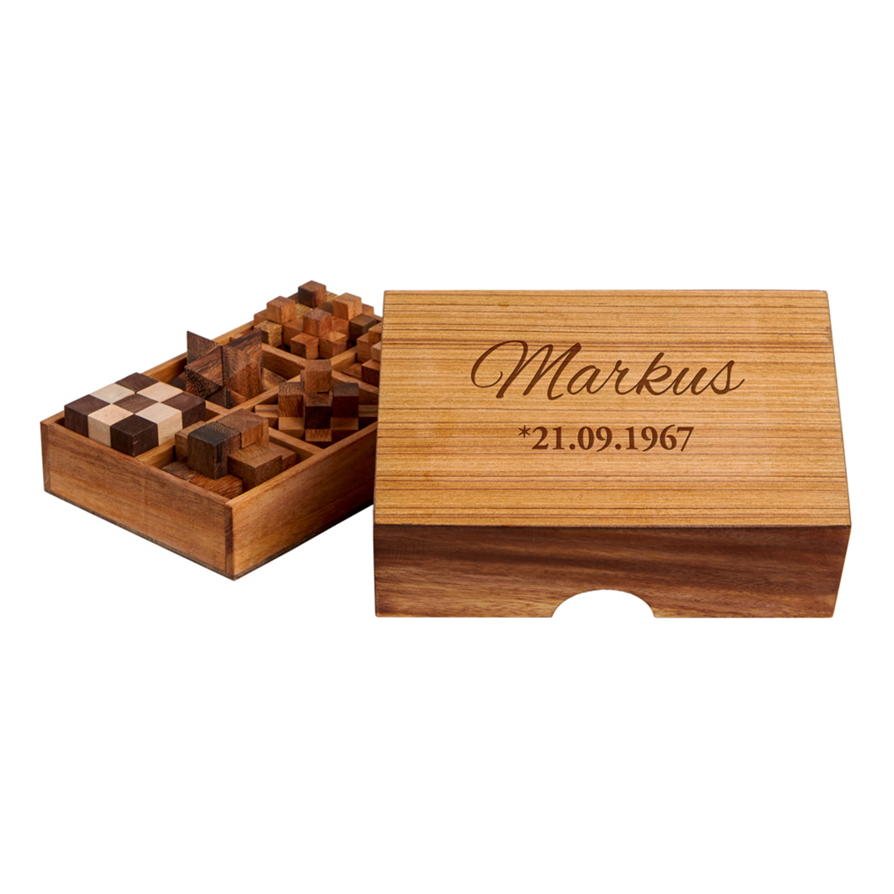 Holz Knobelspiele