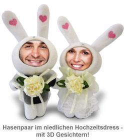 3D Foto-Puppen Hochzeitspaar - 2
