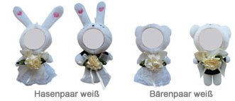 3D Foto-Puppen Hochzeitspaar - 3