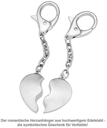 Herz Schlüsselanhänger für Paare - 2