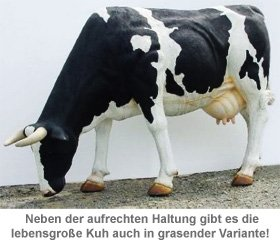 Kuh lebensgroß - coole Garten Deko - 2