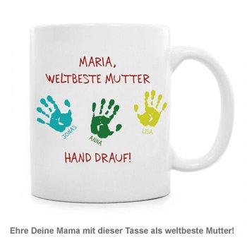 Tasse für Mutter - Hand drauf - 2