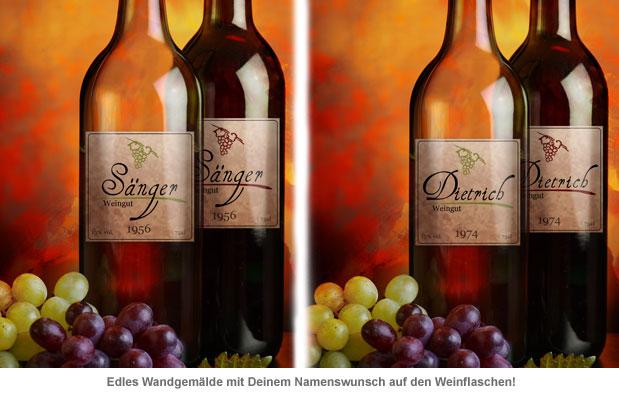 Weingemälde - personalisiert - 2
