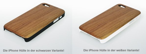 iPhone Hülle aus Echtholz - zwei Farben - 2