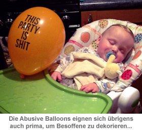 Abusive Balloons 12er Set - Fiese Luftballons - 3