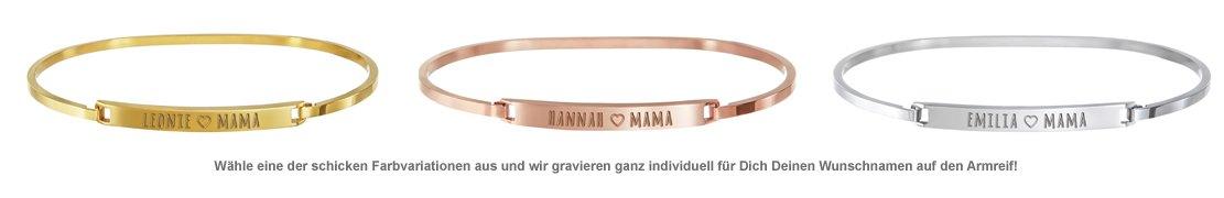 Armreif mit Gravur - Mama Name - 2