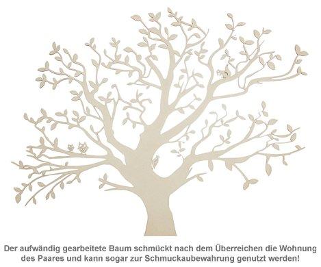 Personalisierter Baum Mit Sockel Fur Paare Gross Aus Holz