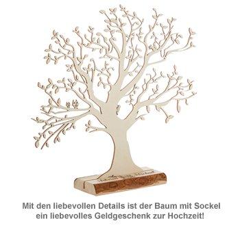 Baum mit Sockel graviert - zur Hochzeit (groß) - 3