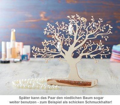 Baum mit Sockel graviert - zur Hochzeit (klein) - 3