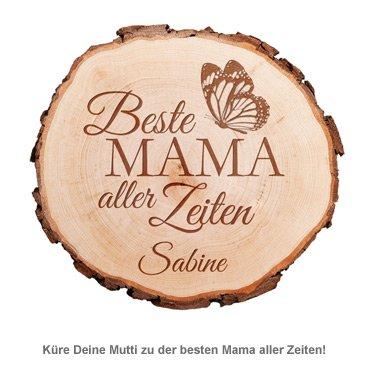 Baumscheibe mit Gravur - Beste Mama aller Zeiten - 2