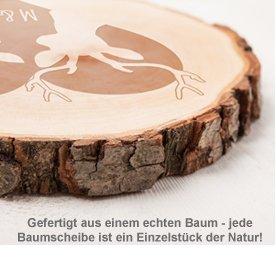 Baumscheibe mit Gravur - Hirschmotiv - 3