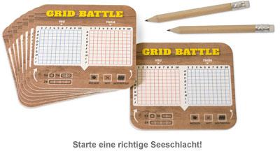 Bierdeckel Spiele - Grid Battle - 2