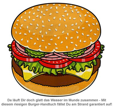 Burger Handtuch - 2