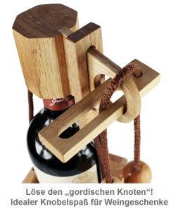 Edelholz Flaschenpuzzle Hell - 4