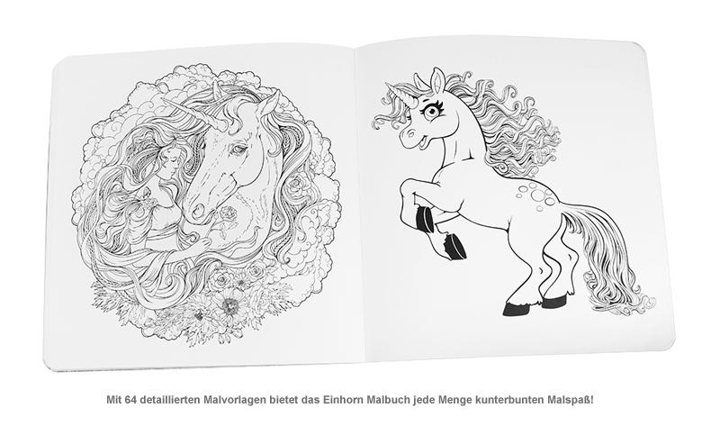 Einhorn Malbuch - 2