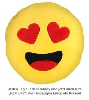 Emoji Kissen - Herzaugen - 2