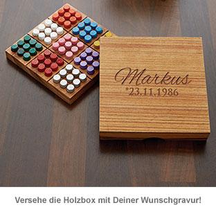 Farben Sudoku in edler Holzbox - 2