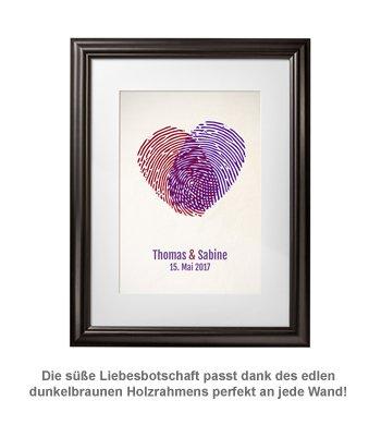Fingerabdrücke - personalisiertes Bild für Paare - 2