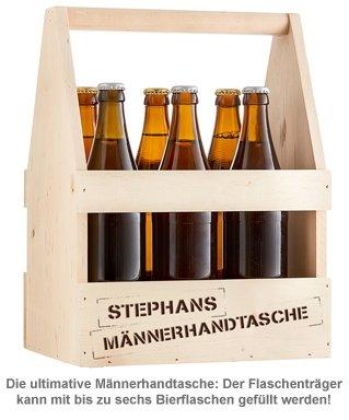 Flaschenträger mit Gravur - Männerhandtasche - 2