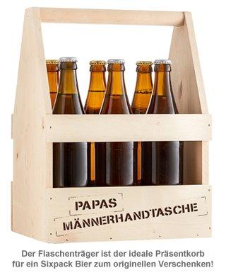 Flaschenträger mit Gravur - Papas Männerhandtasche - 3