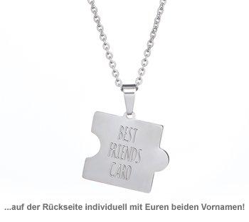 Freundschaftsketten Best Friends - Puzzle Teile graviert - 3