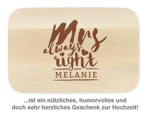 Frühstücksbrettchen Set mit Gravur - Mr and Mrs Right - 3