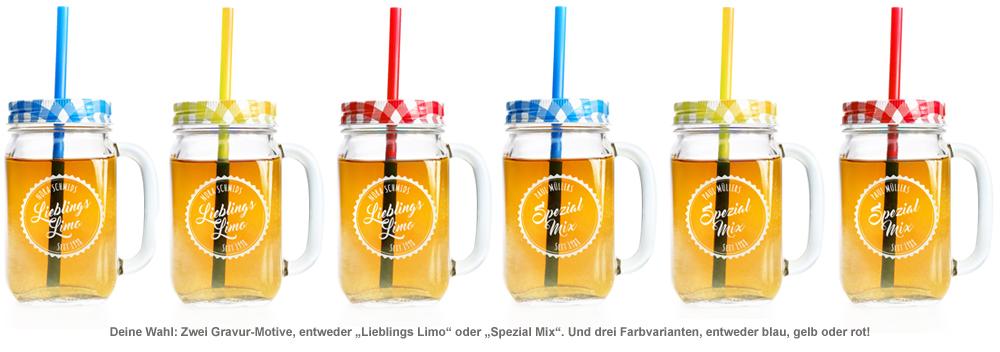 Glas mit Deckel und Strohhalm - personalisiert - 3