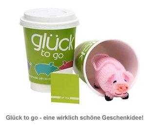 Glück to go - mit handgefertigtem Glücksschwein - 2