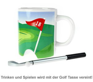 Golf Becher mit Putter - 2