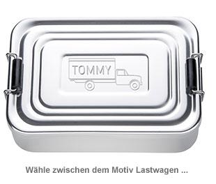 Gravierte Lunchbox für Jungs - quadratisch - 2