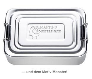 Gravierte Lunchbox für Jungs - quadratisch - 3