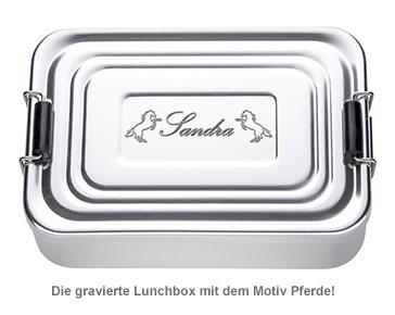 Gravierte Lunchbox für Mädchen - quadratisch - 2